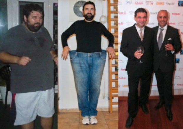from left to right: Gigi Jiga 148 KG in 2010 , 100 kg in 2012 , 89 kg in 2014